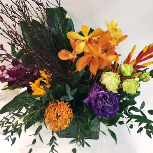 Mix Of Tropical Bright Flowers In A Vase Flowers Talk Tivoli