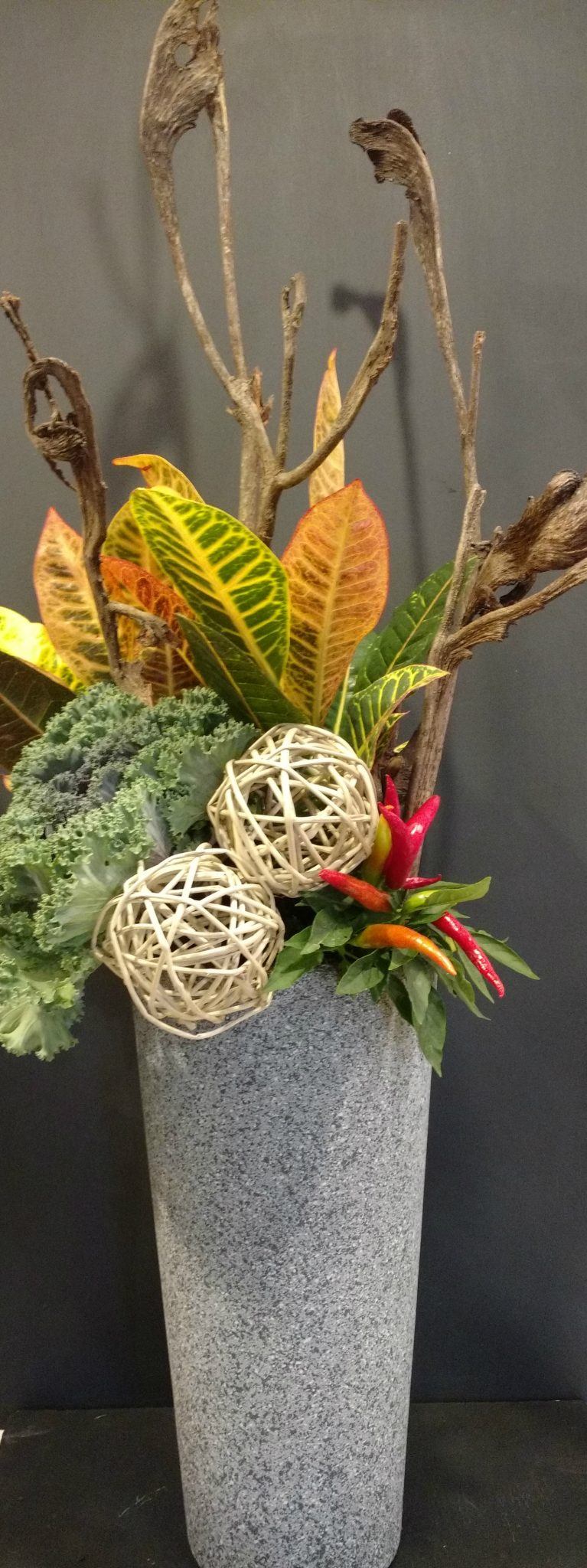 A beautiful fall planter from Flowers Talk Tivoli