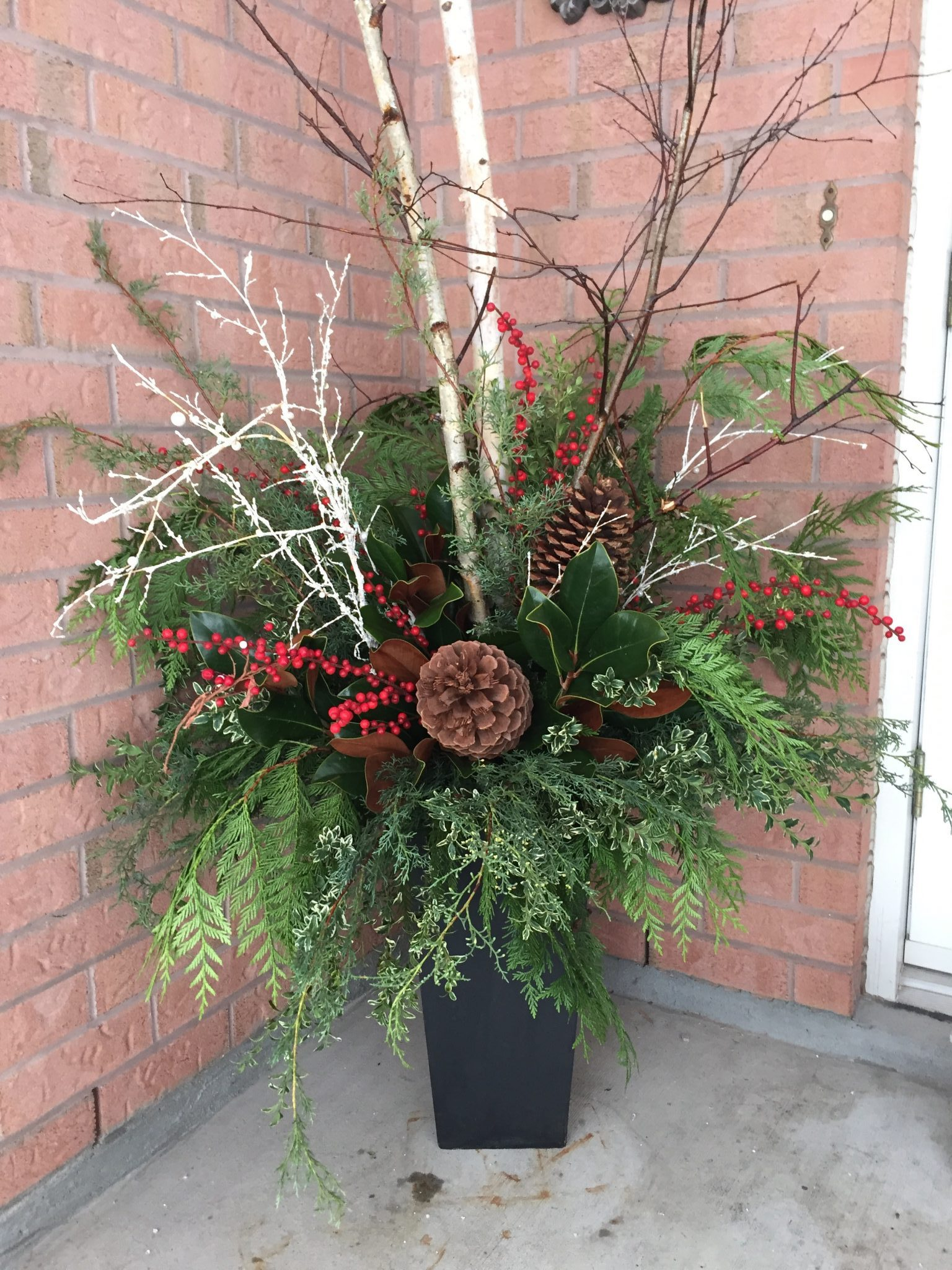 Outdoor Winter Urn