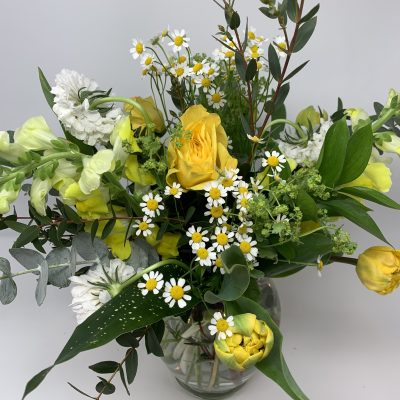 YELLOW & WHITE IN A VASE
