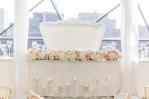 white head table