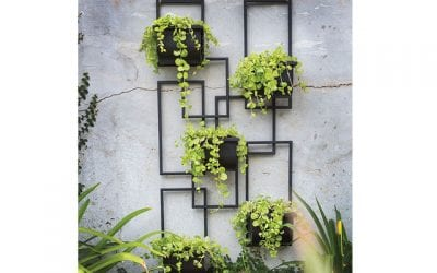 Tiered Metal Wall Planter