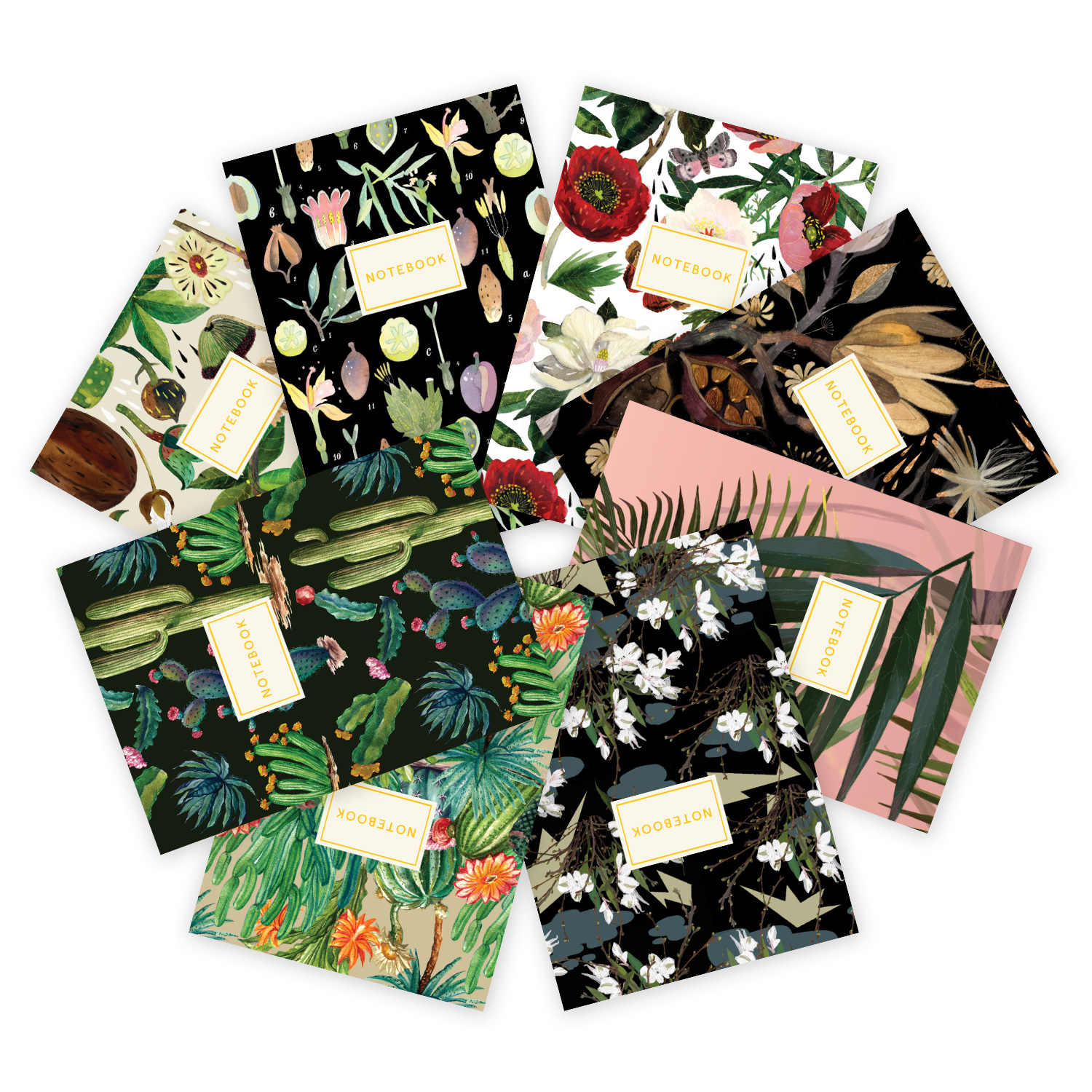 Selection of floral notebooks